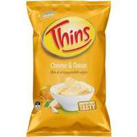 Smiths Thins Cheese & Onion (175grm)