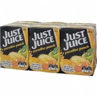 Just Juice Paradise Punch Fruit Drink 6 pack